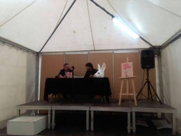 Presentación de Raros, torpes y hermosos en la Feria del libro de Alicante.
