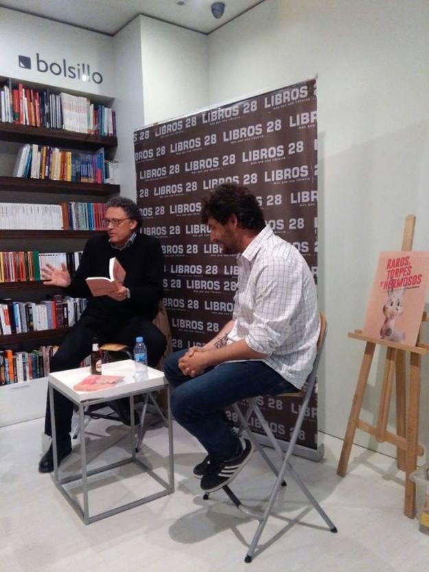 Presentación en la librería Libros 28. Raúl Jiménez y Luis Leante
